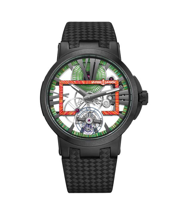 雅典表发布经理人镂空陀飞轮超时空腕表