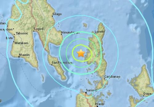 菲律宾发生5.6级地震 震源深度10公里