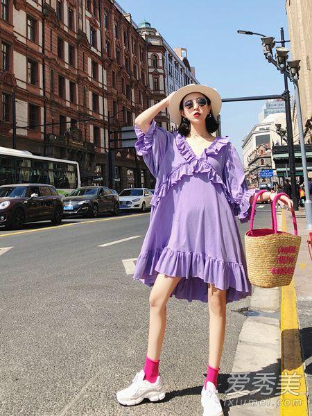 紫色衣服难搭配 这几款搭配教你轻松hold住2018流行色