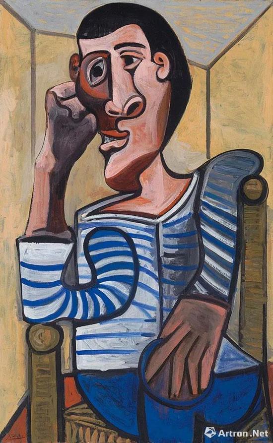 毕加索绘制的《水手》因损坏而撤拍