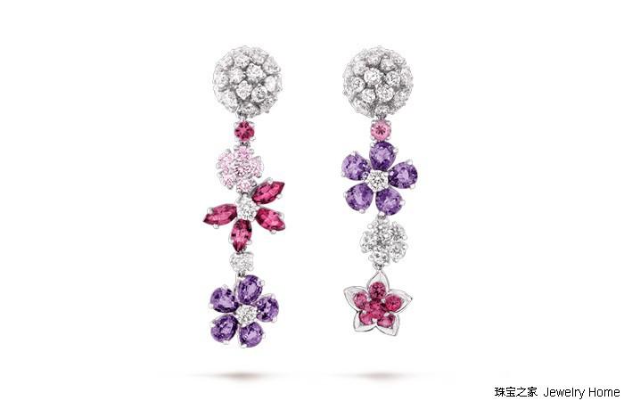 梵克雅宝Folie des Prés高级珠宝系列 以路边不起眼的小野花为灵感