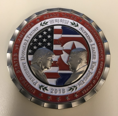 白宫制作发行朝美首脑会谈纪念币