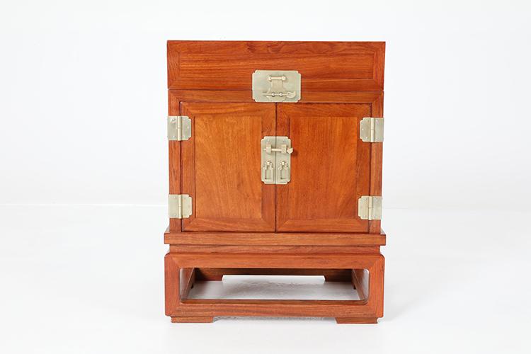 """红木家具价格 """"缅甸花梨带托尼茶叶柜""""价格多少?"""