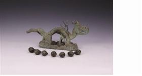 明朝皇陵显陵遗址发现的镀金铜龙