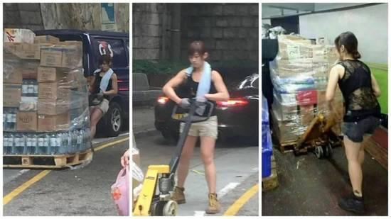 香港女搬运工火了 体力根本不输男人