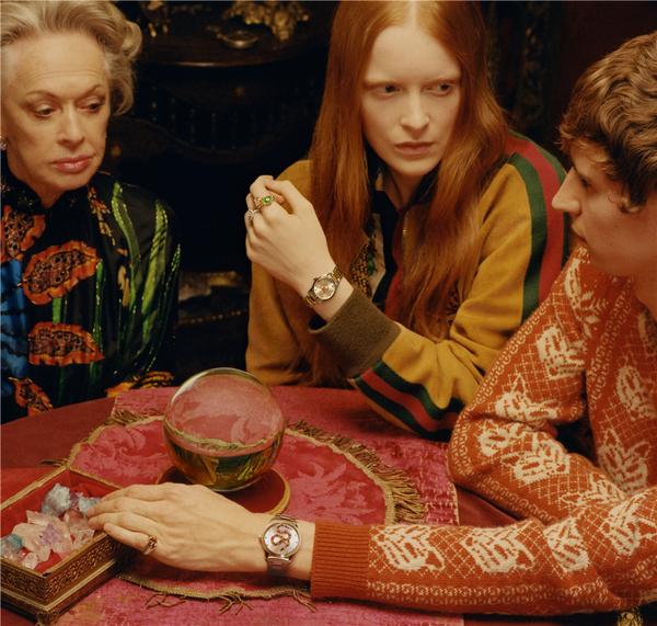 古驰推出全新腕表首饰广告形象大片 诠释独特浪漫的时尚美学