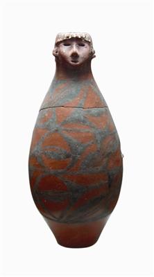六千年前神秘人头彩陶瓶