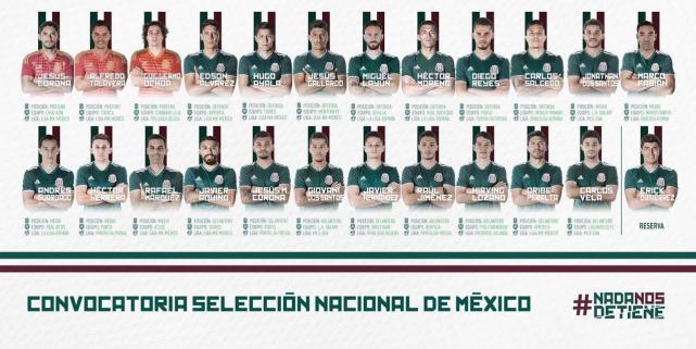 墨西哥世界杯23人名单公布