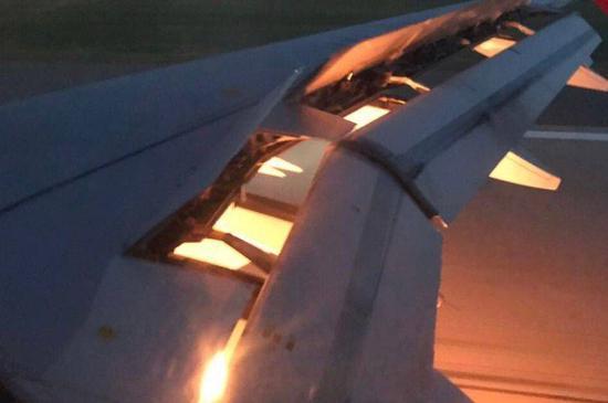 沙特队飞机起火 只是个小事故