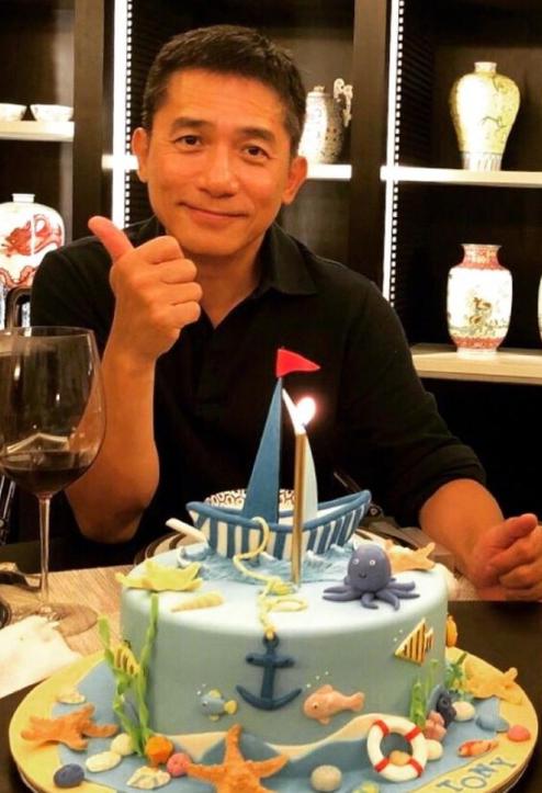 刘嘉玲为梁朝伟庆生 蛋糕做得真的很用心了