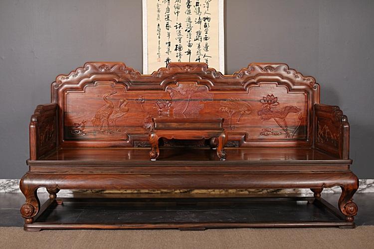 """红木家具价格""""大红酸枝(交趾黄檀)合和之寓沙发十三件套""""多少钱?"""