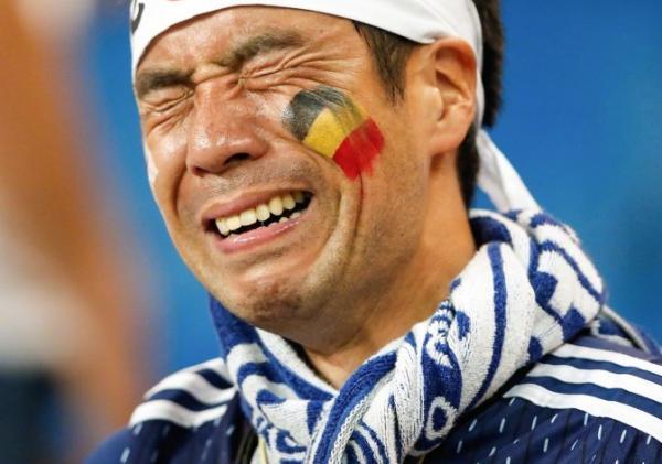 日本队最后一刻出局 用赛场上的表现赢得了尊严
