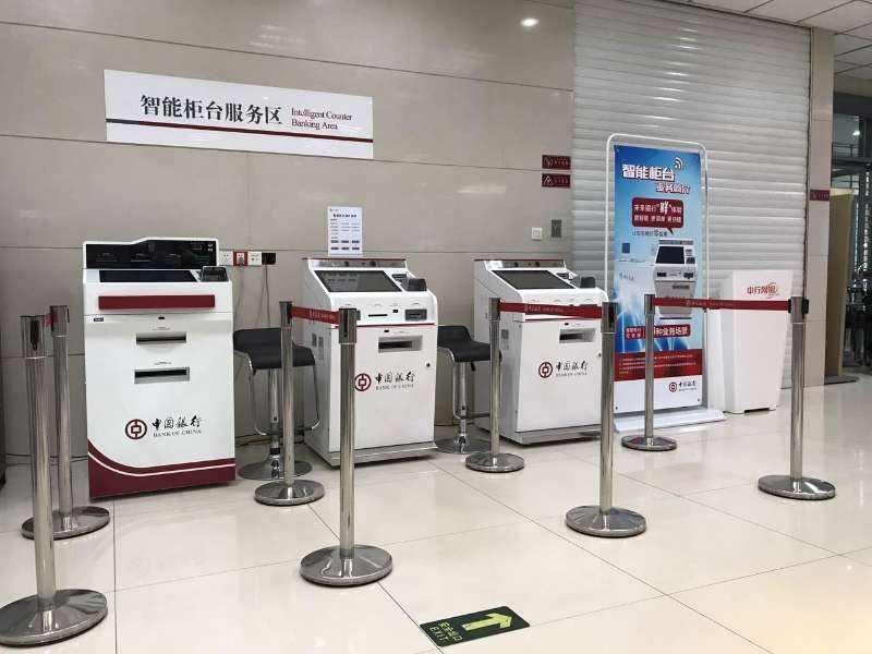 国内首款银行无人柜台在上海亮相