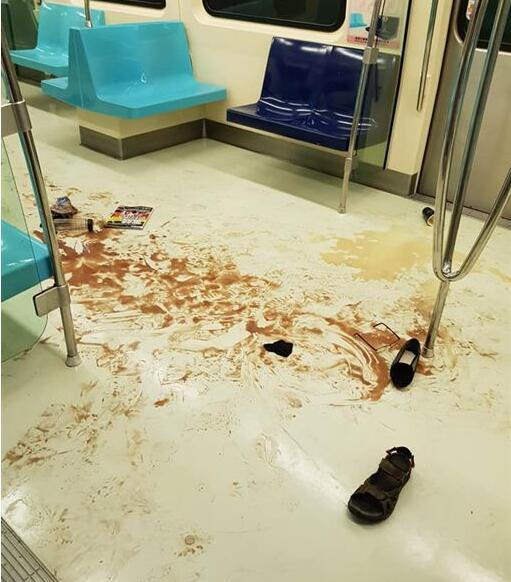 台湾地铁上演釜山行 乘客争相仓皇逃出车厢