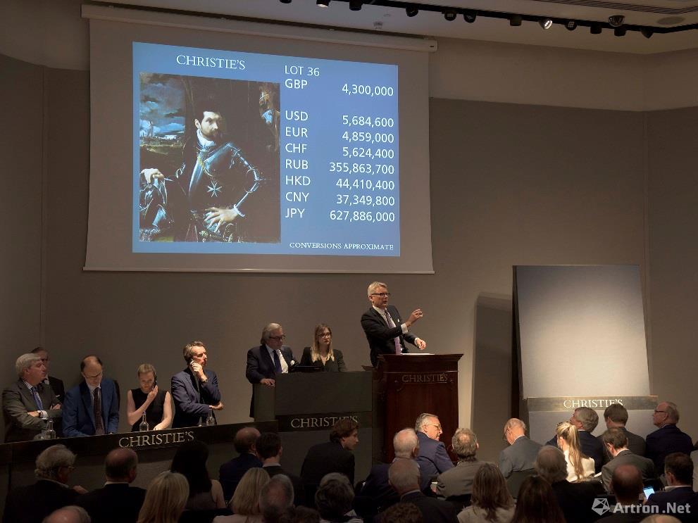 2018年伦敦佳士得古典大师晚拍 成交率达74%