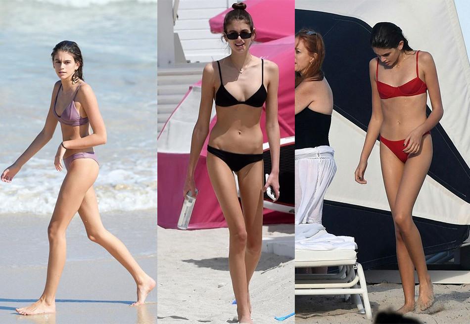 在沙滩上C位出场就靠这些泳装了