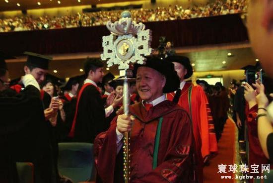 中山大学学位授予权杖上的夜明珠及60颗翡翠有何寓意