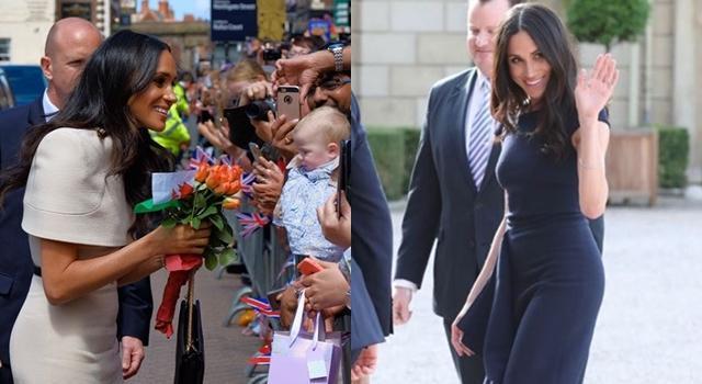 英国皇室新王妃梅根新造型抢眼