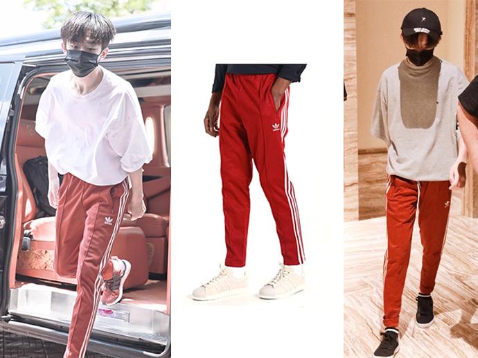 感受一波易烊千玺对红色运动裤的执念
