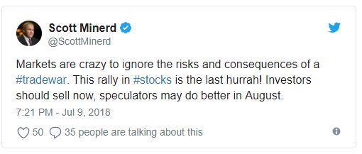 """无视风险继续飙涨 华尔街大佬警告美股""""太疯狂了"""""""