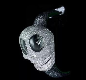 de GRISOGONO细致雕琢骷髅头宝石表 