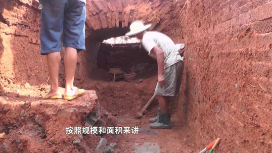 邵东县发现了一处古代墓葬 初步判定此墓为东汉时期砖室墓