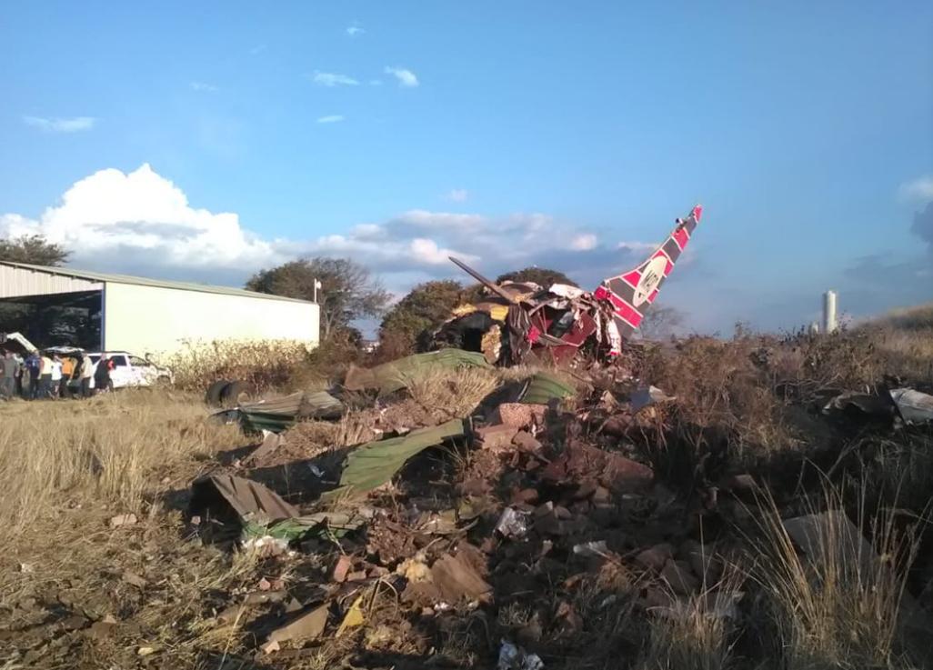 南非首都飞机坠毁20人伤 或与发动机故障有关