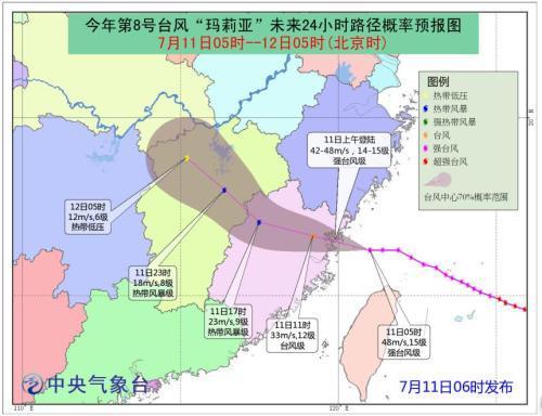 """台风最新消息:""""玛莉亚""""在福建连江黄岐半岛登陆"""