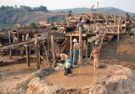 顶级红宝石产地 缅甸抹谷红宝石矿区