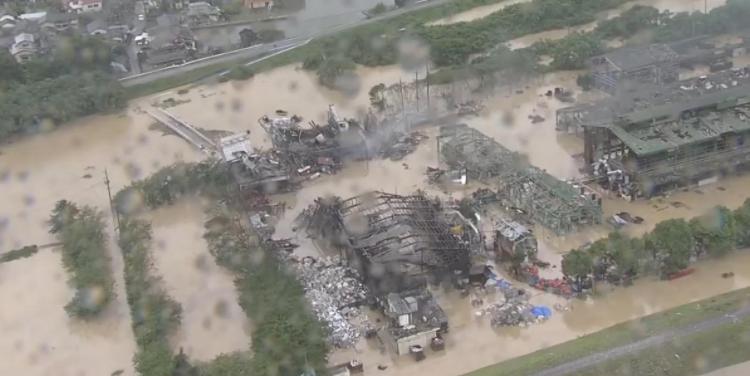暴雨灾区日本遇难195人 6700人不得不过疏散生活