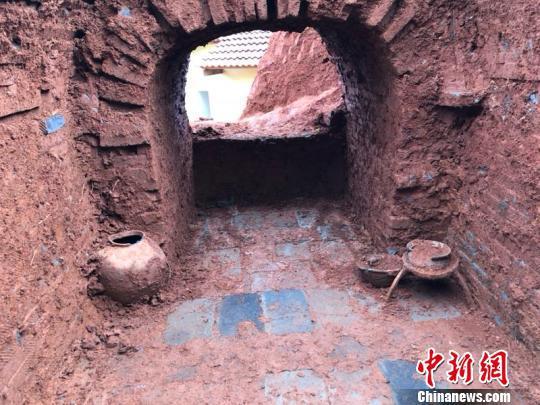 湖南邵阳发现一处古代墓葬 为东汉时期砖室墓