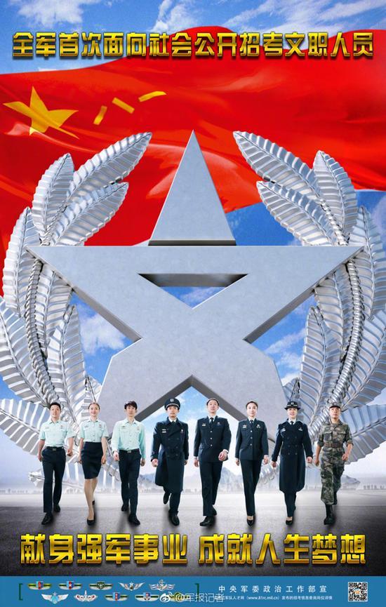 中国人民解放军招考文职人员 7月12日至22日可报名