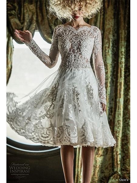 Olvi's 2019婚纱系列 皇家浪漫复古风格