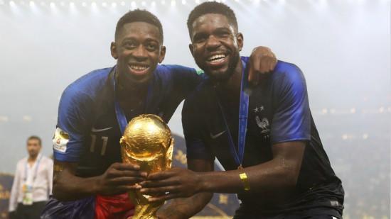 法国夺冠!乌姆蒂蒂和登贝莱成新科世界冠军成员