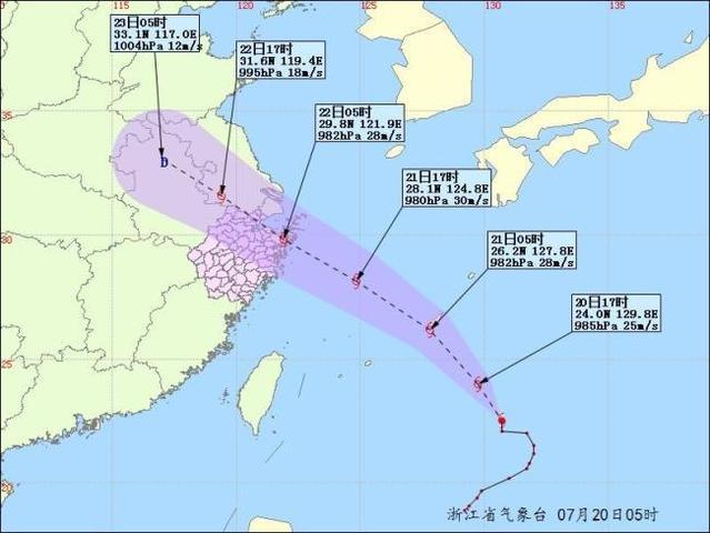 2018台风最新消息台风路径实时发布系统第10号台风安比最新动态