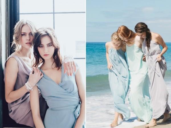与闺蜜一起穿出夏日风情 时尚夏季伴娘礼服