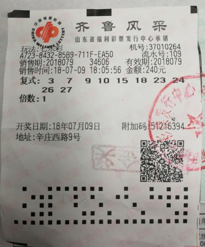 自选复式号码 技术型彩民勇夺七乐彩头奖