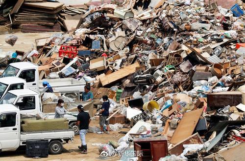 日本洪灾垃圾惊人 或创下日本历史最高纪录