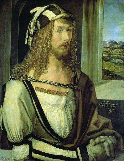 丢勒《1498年自画像》鉴赏