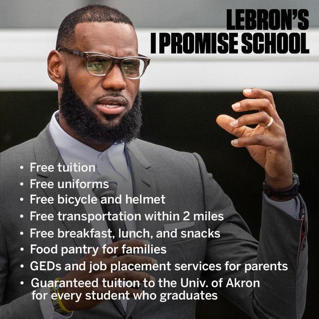詹姆斯免费学校 其中还有八项免费福利
