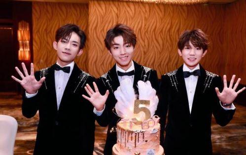TFBOYS出道五周年!三小只合体庆祝