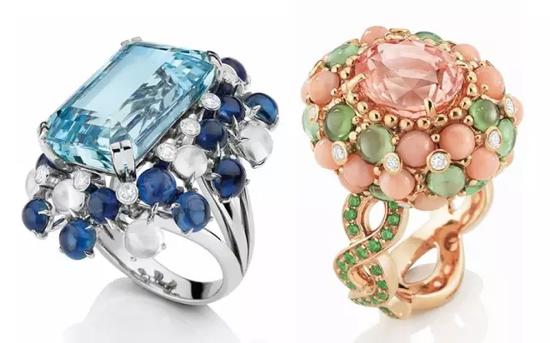 法国珠宝商Mellerio Dits Meller 推出'鸡尾酒戒指'
