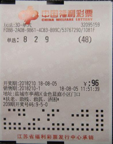 生日组号买3D 盐城小伙子中得5万元大奖