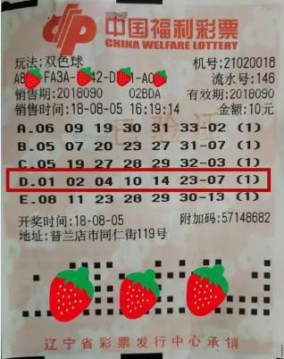 小伙10元机选中577万头奖 笑称:我这张彩票可不一般!