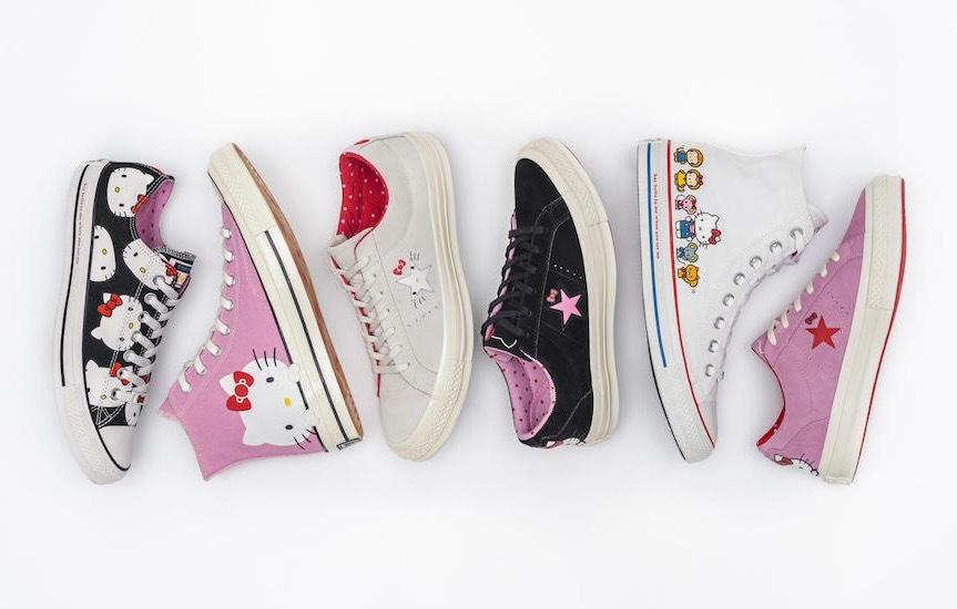 Hello Kitty x CONVERSE联名系列即将发售