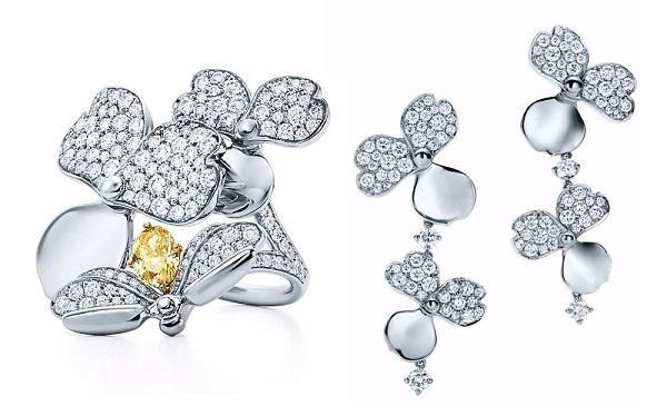 蒂芙尼推出以纸片裁剪的装饰花瓣为灵感的Paper Flowers系列珠宝