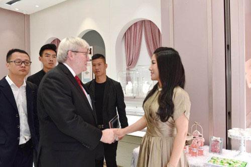 澳前总理陆克文到访钻石世家