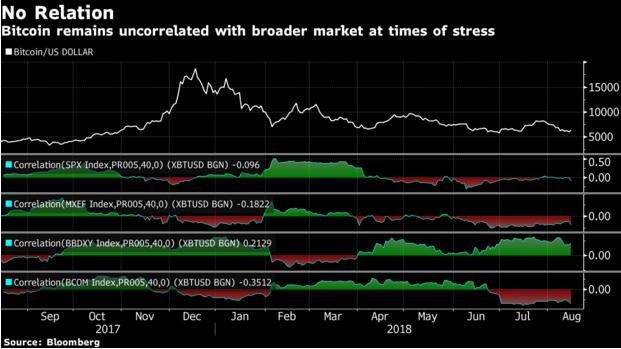 市场动荡 买比特币能分散风险?