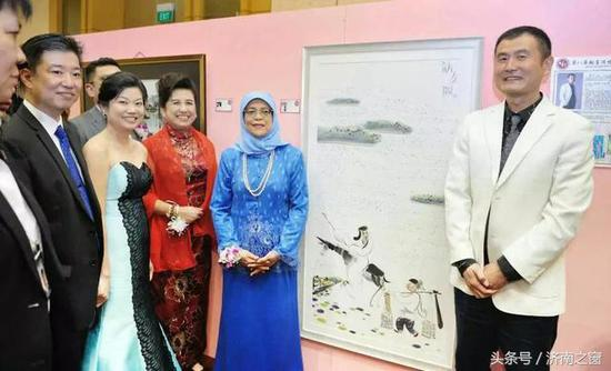 中国济南画家张立 应邀参加《新加坡国际艺术论坛》