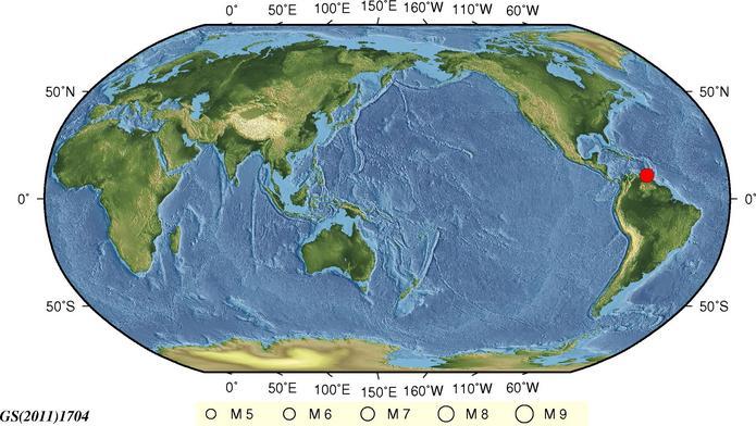 委内瑞拉发生7.3级地震 震源深度110千米